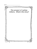 Math Addition and Subtraction Integrated Writing Story Starter Printable