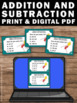 Addition and Subtraction Task Cards, Ways to Make Numbers 2nd Grade Math Review