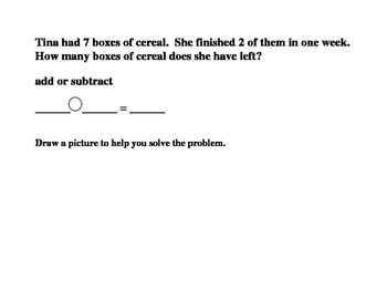 Math Addition and Subtraction Word Problems