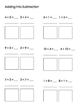 Math- Addition into Subtraction, Flip-Flop Math