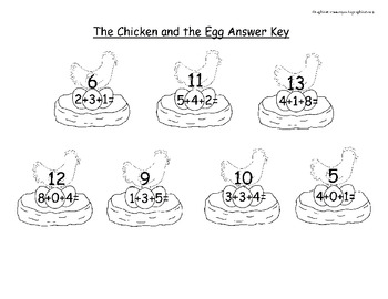 Math- Addition with Chickens and Eggs