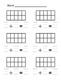 Math Addition with Ten Frames