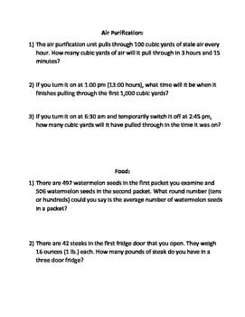 Submarine Math Adventure (Basic Operations, Rate, Ratio, Averages)