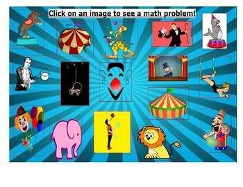 Math Adventure Interactive Activity-At The Circus (On Google Slides) Template