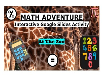 Math Adventure Interactive Activity-At The Zoo (On Google Slides) Template