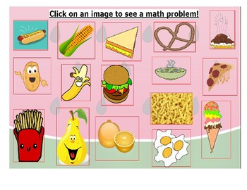 Math Adventure Interactive Activity-Fun With Food (On Google Slides) Template