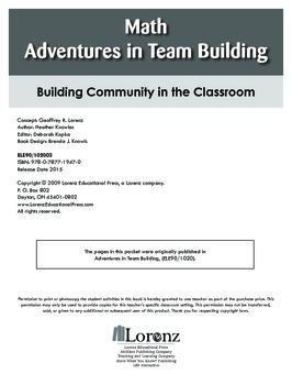 Math Adventures in Team Building