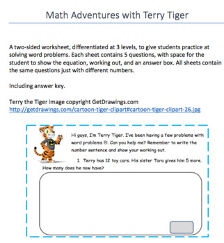 Math Adventures with Terry Tiger