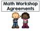 Math Workshop Agreements Poster