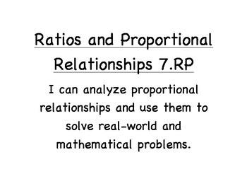 "Math - Alaska Standards: 7th Grade ""I can statements"""