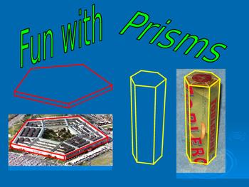 Math Algebra All About Prisms Powerpoint