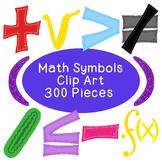 Math Algebra Clip Art Bundle Symbols PNG JPG Blackline Commercial or Personal