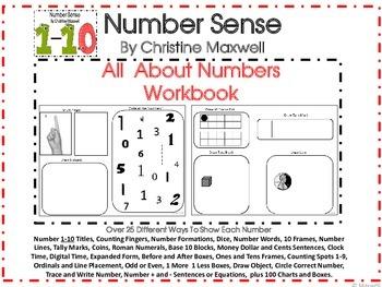 Math All About Number Sense Workbook 1-10