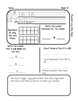 Math All Year! A Common Core Based Kindergarten Math Pack