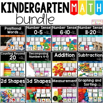 Math Bundle For Kinders