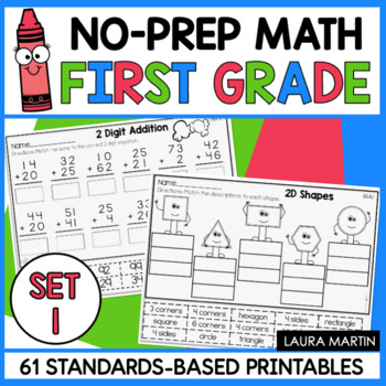 First Grade Math Worksheets by Laura Martin | Teachers Pay Teachers