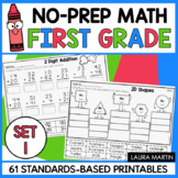 First Grade Math Worksheets | Distance Learning | Google Classroom