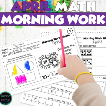 Math All Year - Morning Work Minute - April