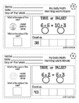 First Grade Math - Morning Work Minute Worksheets - March