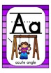Alphabet Posters Math: Multi-Colored Stripe