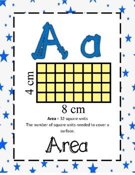 Math Alphabet 2nd Grade - Blue Stars