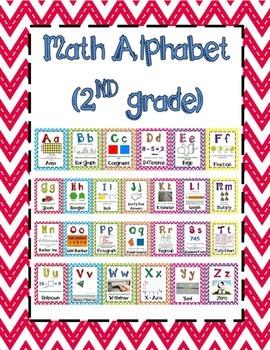 Math Alphabet 2nd Grade STAAR