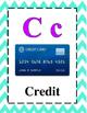 Math Alphabet 3rd Grade STAAR-Purple and Teal Cheveron