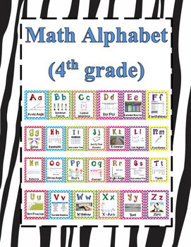 Math Alphabet 4th Grade STAAR Animal Print