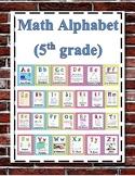 Math Alphabet 5th Grade STAAR - Harry Potter