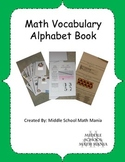 Math Alphabet Book Project