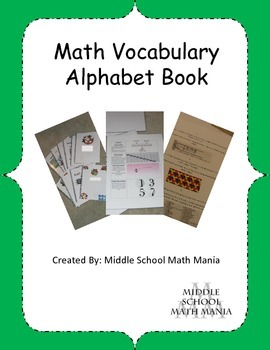 Math Alphabet Book Project