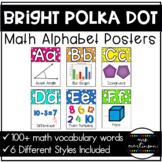 Math Alphabet Posters   Bright Polka Dots