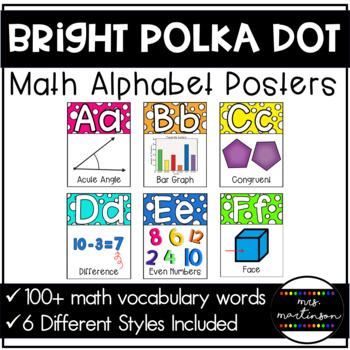 Math Alphabet--Bright Polka Dots