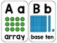 Math Alphabet Chart Cards - In Cursive and Print