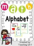 Math Alphabet (Cursive)