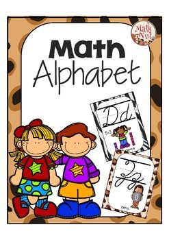 Cursive Alphabet Posters Math: Various Animal Prints