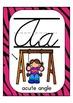 "Cursive Alphabet Posters Math ""Pink Zebra Print"""