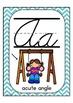 Cursive Alphabet Posters Math: Teal Chevron