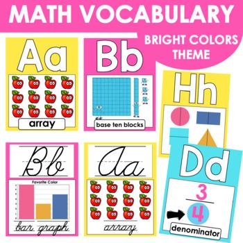Math Alphabet Posters