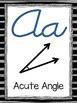 Math Alphabet Posters--Black Stripe (Cursive)