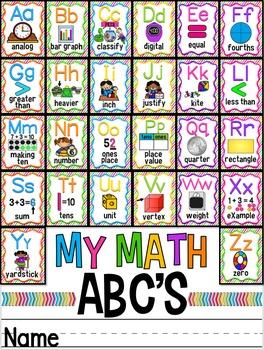 Math Alphabet Posters ~ Common Core Vocabulary
