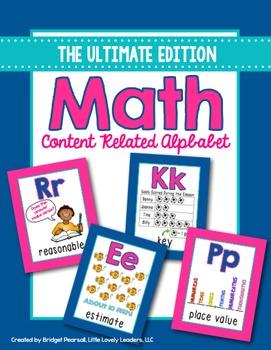 Math Alphabet Posters - Math Vocabulary