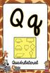 Math Alphabet Posters Safari Jungle Theme BACK TO SCHOOL