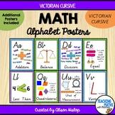 Math Alphabet Posters - Victorian Cursive