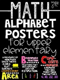 Math Alphabet Posters for Upper Elementary