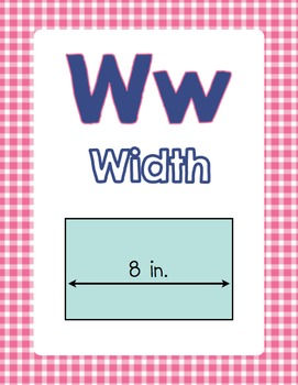 Math Alphabet Posters in Navy, Pink, and Teal