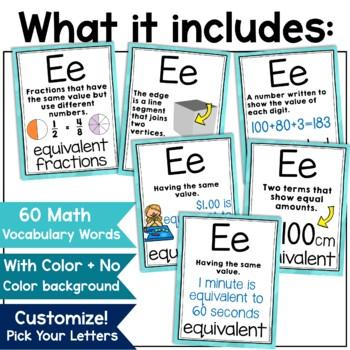 Math Alphabet Print
