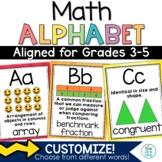 Math Alphabet Posters Print