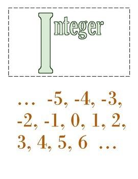 Math Alphabet (Secondary)