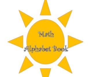 Math Alphabet Vocabulary Book